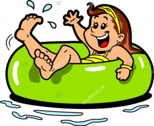 stock-vector-happy-girl-floating-on-the-water-in-an-inner-tube-flotation-device-144637259